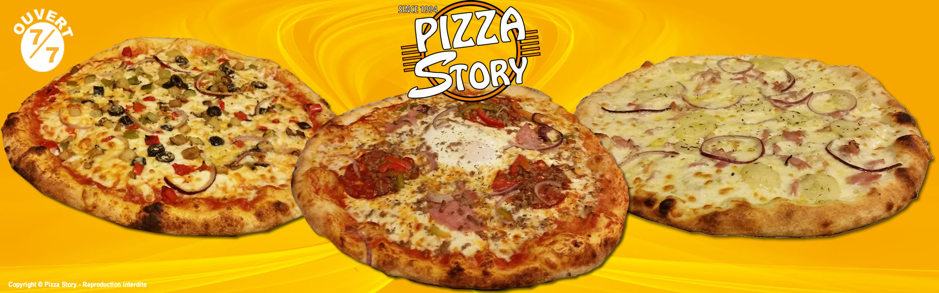 pizza en livraison domicile ou emporter 7j 7 pizza story villeurbanne et bourgoin. Black Bedroom Furniture Sets. Home Design Ideas